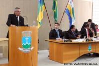 Entrega de títulos: Antônio da Silva, Dr. Marlos César , João Eudis, Edi Carlos e Carlos Eloy