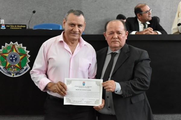Itabaianense Ingram de Souza Menezes, vereador pelo município de Peruíbe em São Paulo, recebe Moção de Congratulação pelo recorde mundial em supino