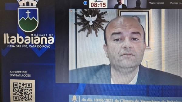 CÂMARA MUNICIPAL DE ITABAIANA – SESSÃO ORDINÁRIA 10/06/2021