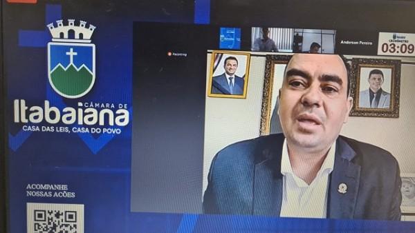 CÂMARA DE VEREADORES DE ITABAIANA – SESSÃO ORDINÁRIA 27/05/2021